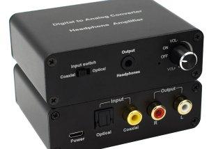Digital to analog audio AMP