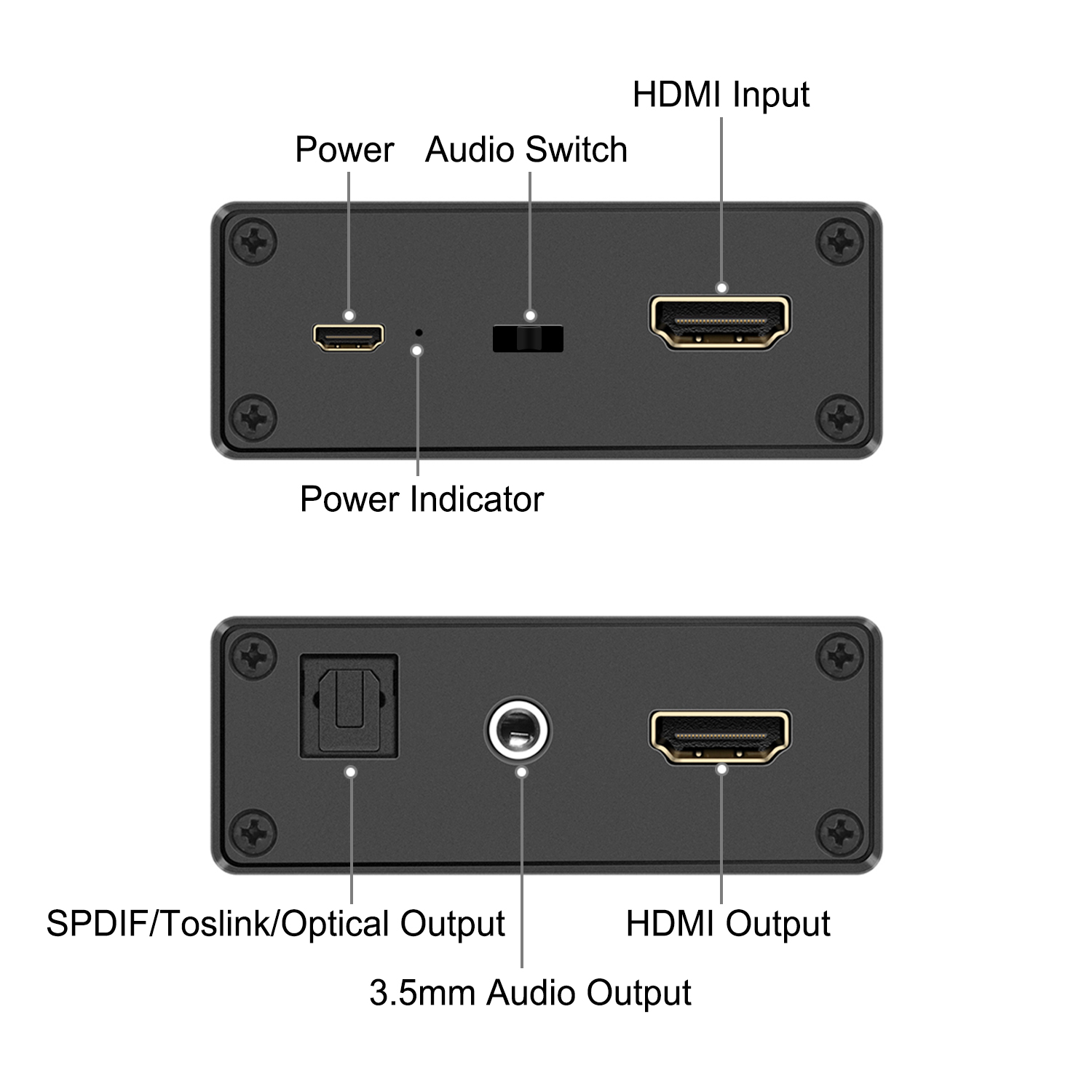 GV-014 HDMI Audio Extractor support Toslink Coaxial and stereo audio output
